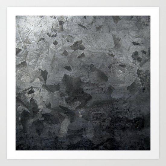 Grey texture Art Print
