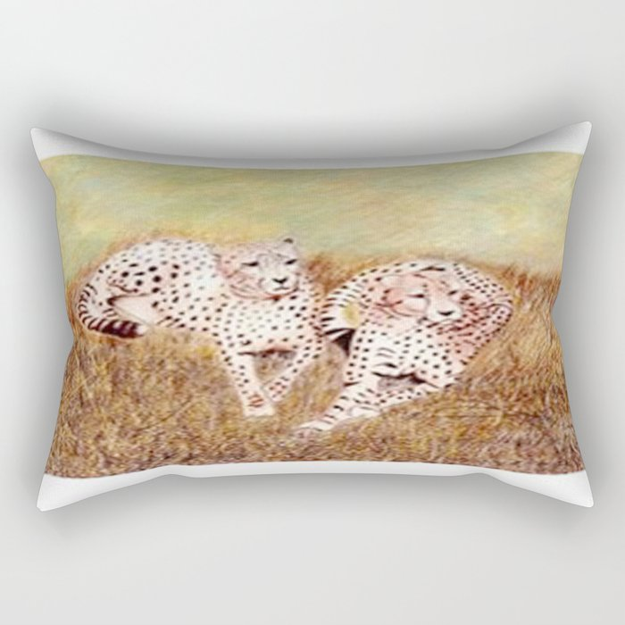 Resting Cheetahs Rectangular Pillow