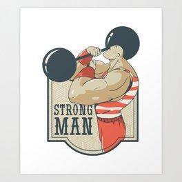 Strongman Weightlifting Art Print