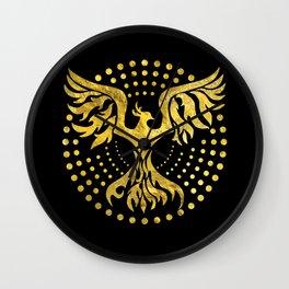 Gold Decorated Phoenix bird symbol Wall Clock