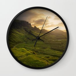 Mesmerized By the Quiraing VI Wall Clock