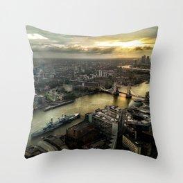 Sunrise from Shard Throw Pillow