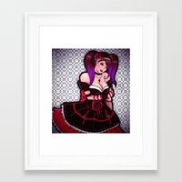 eugenia loli Framed Art Prints featuring Loli loli by clayscence