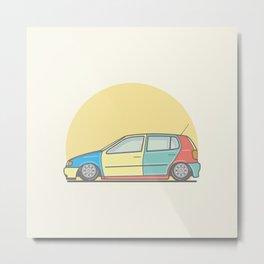 Volkswagen Polo 6n Harlequin vector illustration Metal Print