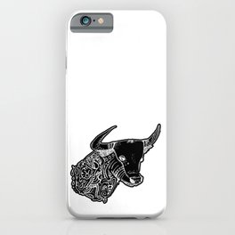 TAURUS - inverted bull - zodiac doodle series abstract Art Print iPhone Case