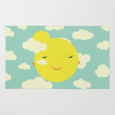 Miss Sunshine in clouds Rug
