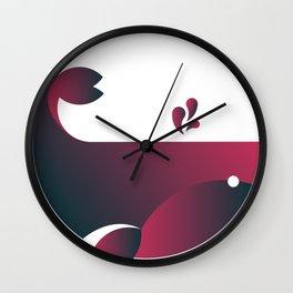 Whale - Watermelon Wall Clock