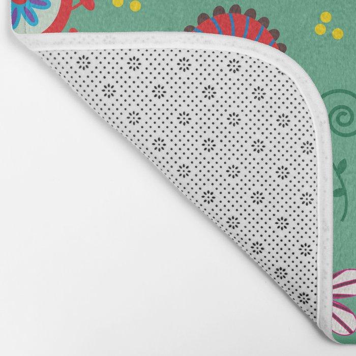 Floral pattern # C10 Bath Mat