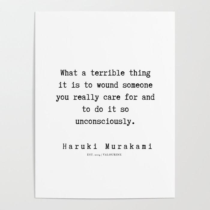 42 Haruki Murakami Quotes 190811 Poster By Quotesandsayings