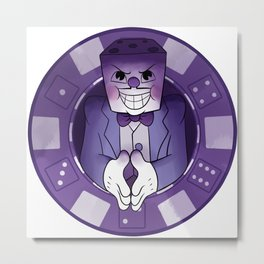 Don't mess with King Dice Metal Print