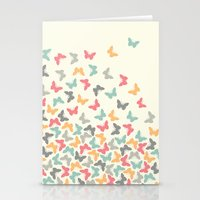 butterflies Stationery Cards featuring Butterflies by Juste Pixx Designs