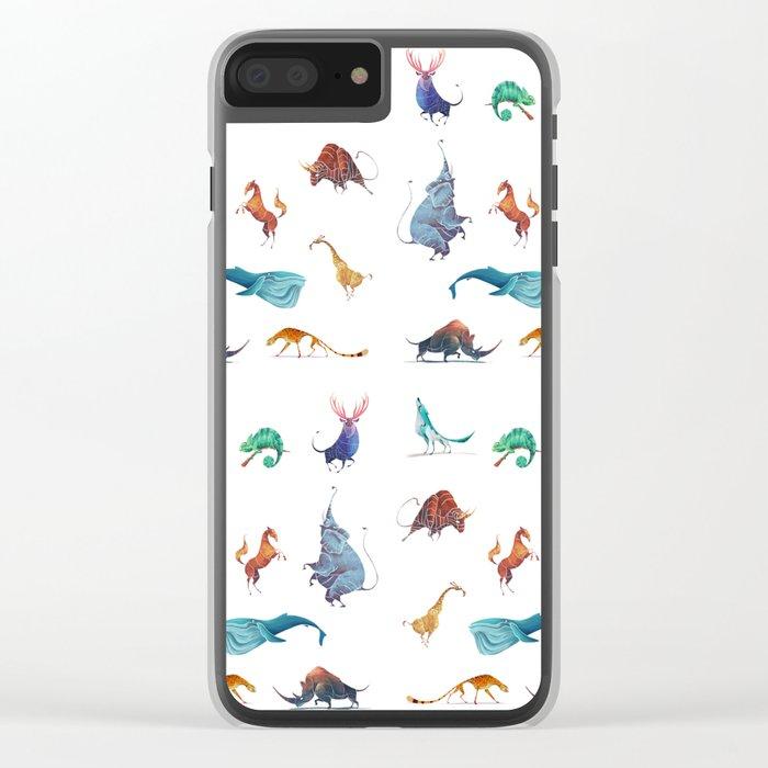 Animals kingdom Clear iPhone Case