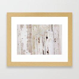 White Barn Nails Framed Art Print