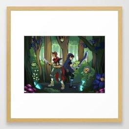 Monsters and Mana Klance Framed Art Print