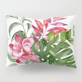 Flower and Leaves 1 Pillow Sham