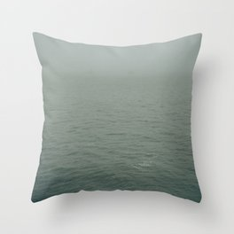 Foggy morning in NYC Throw Pillow