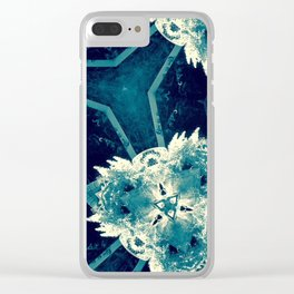 All About Blue Clear iPhone Case