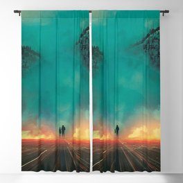 Fire Truck Red Blackout Curtain