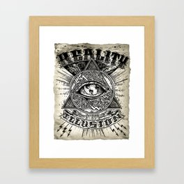 Reality is an illusion Framed Art Print