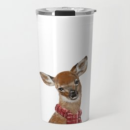 Christmas Baby Deer Travel Mug