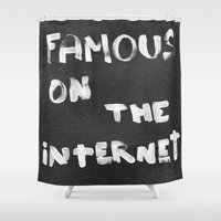 internet Shower Curtains featuring Famous on the Internet by LeeAna Benson