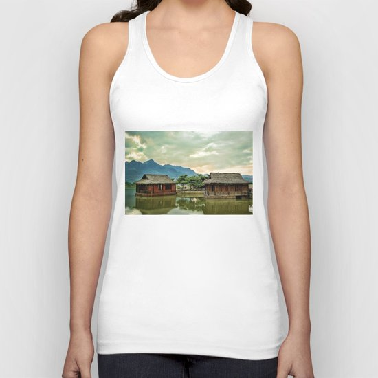 Water Huts Unisex Tank Top