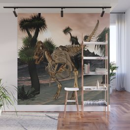 Awesome t-rex skeleton Wall Mural