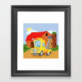 TOW TRUCK (GROUND VEHICLES) Framed Art Print