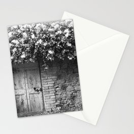 Old Italian wall overgrown with roses Stationery Cards