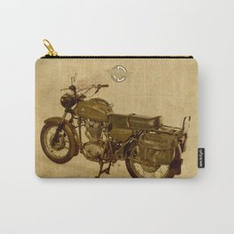 Old Brown Ducati, classic vintage motorcycle Carry-All Pouch