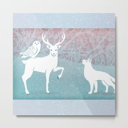 Winter In The White Woods Metal Print