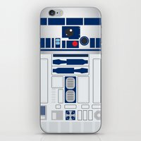 r2d2 iPhone & iPod Skins featuring R2D2 by 2BROS
