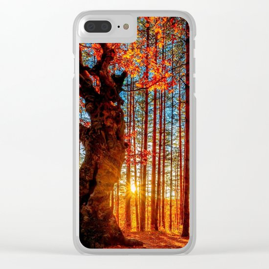 Majestic woods Clear iPhone Case