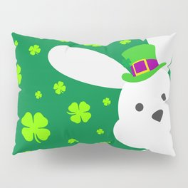ST. PATRICK'S DAY BUNNY (abstract animals nature flowers happy irish, patricks) Pillow Sham