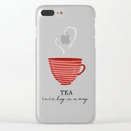 Tea, a Hug in a Mug Clear iPhone Case