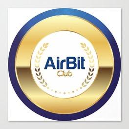 AirBit Club LOGO for fans Canvas Print