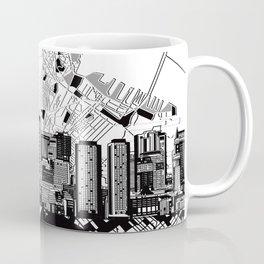 boston city skyline black and white Coffee Mug
