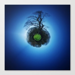 Tiny Planet 1 - Floating in the Big Blue Canvas Print