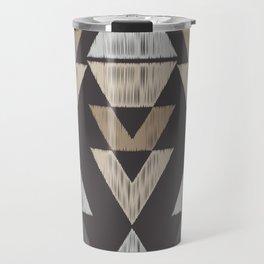 Brown Tribal Pattern Travel Mug