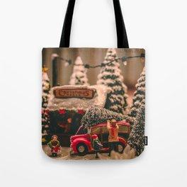 Tiny Christmas Town (Color) Tote Bag
