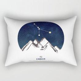 Astrology Cancer Zodiac Horoscope Constellation Star Sign Watercolor Poster Wall Art Rectangular Pillow