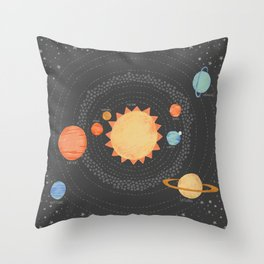 Our Solar System Throw Pillow
