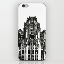 Triptych 3 - Tribune Tower - Original Drawing iPhone Skin