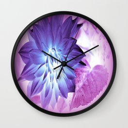 Purple Flower X-Ray Wall Clock