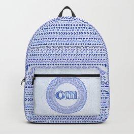 Blue Om Backpack