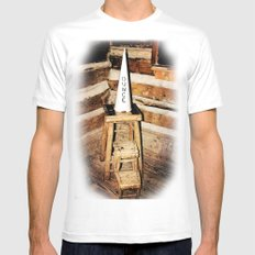 Dunce MEDIUM White Mens Fitted Tee