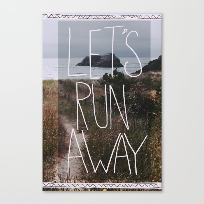 Let's Run Away: Cannon Beach, Oregon Canvas Print