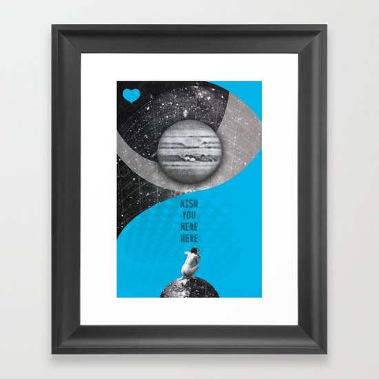 Wish you were here (Rocking Love series) Framed Art Print