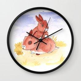 Baby Jackalopes Wall Clock