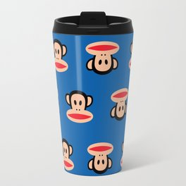 Julius Monkey Pattern by Paul Frank - Dark Blue Travel Mug